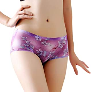 Underwear Women Bummyo Women Printed Soft Briefs Panties Hipster Breathable Thongs Underpants Boyshort Lingerie Underwear