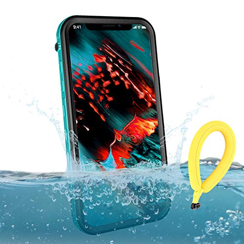 BDIG Funda Impermeable iPhone XS MAX, 360 Funda IP68 Certificado Delgado Cover a Prueba de choques Anti-rasguños Full Body con Protector de Pantalla Impermeable Funda para iPhone XS MAX (Azules Sets)
