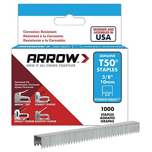 Arrow 031045 506SS1 5 Boîte de 1000 Agrafes 10 mm pour Agrafeuse T50