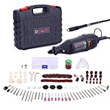 GOXAWEE Rotary Tool Kit with MultiPro Keyless Chuck and Flex Shaft - 140pcs Accessories Variable Speed...
