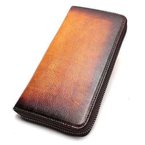 USNASLM Cartera de cuero para señoras Bolso de embrague largo de las señoras de la cartera de la tarjeta del teléfono móvil