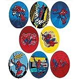 8 parches spiderman rodillera serigrafiados para planchar - REF.6797-U8