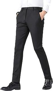 スラックス メンズ スーツ ズボン ストレッチ ビジネスパンツ 細身 通勤 美脚 夏 秋 イージーケア ロングパンツ スリム ノータック 黒 紺 …