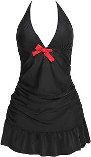 Black Bikini for Women, Conservative Adjustable Sexy Bikini, Halter Bikini Top Womens Bathing Suits,5XL