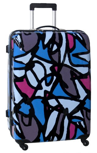Ed Heck Luggage Scribbles 28 Inch Hardside Spinner, Blue, One Size