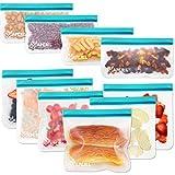 APERIL Sacchetti Riutilizzabili per Alimenti, 10 Pezzi Sacchi Portaoggetti Congelatori Borsa, Ecologico per Pane, Sandwich, Tostapane
