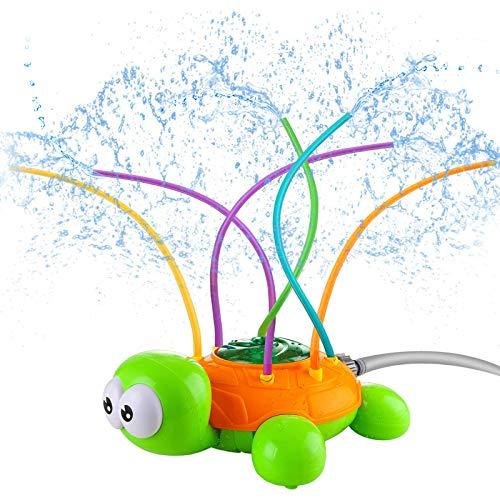 GUBOOM Juguete de Rociador, Aspersor de jardín de Verano Juguete rociador de Tortuga para niños Adecuado para Actividades Familiares al Aire Libre, Fiesta al Aire Libre en el jardín.