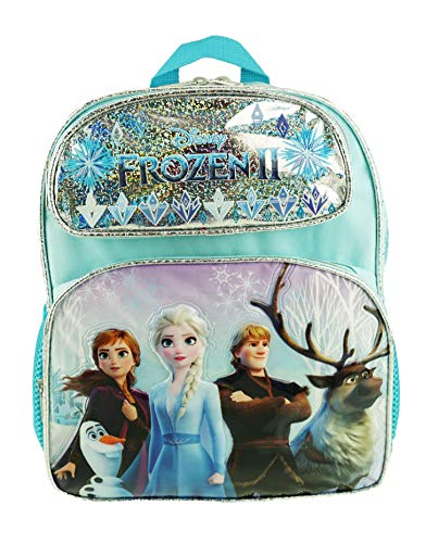 """Disney's Frozen 2-12"""" Deluxe Toddler Size Backpack - Ice Memory - A18966"""