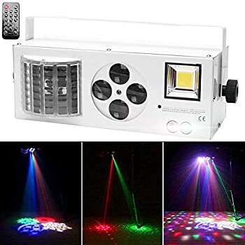 Stage Lights U`King DJ Lighting Party Light with RGBW LED Pattern Mixed Effect by Sound Activated and DMX Control Strobe Lights for Disco Parties Wedding Birthday Club