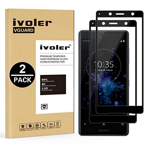 ivoler [2 Unidades] Protector de Pantalla para Sony Xperia XZ2 Compact, [Cobertura Completa] Cristal Vidrio Templado Premium, [Dureza 9H] [Anti-Arañazos] [Sin Burbujas]