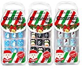 MayQueen 3Pack 60Tips Press On Christmas Novelty Nails, Sticker Nails For Kids