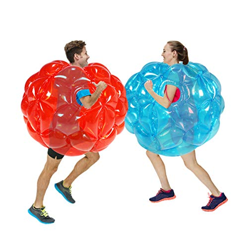 SUNSHINE-MALL Inflatable Bubble Balls for Kids,Inflatable Buddy Bumper Balls Sumo Game,Giant Human Hamster Knocker Ball Body Zorb Ball for Child Outdoor Team Gaming Play for 6-50 Ages.(2pcs 36inch)