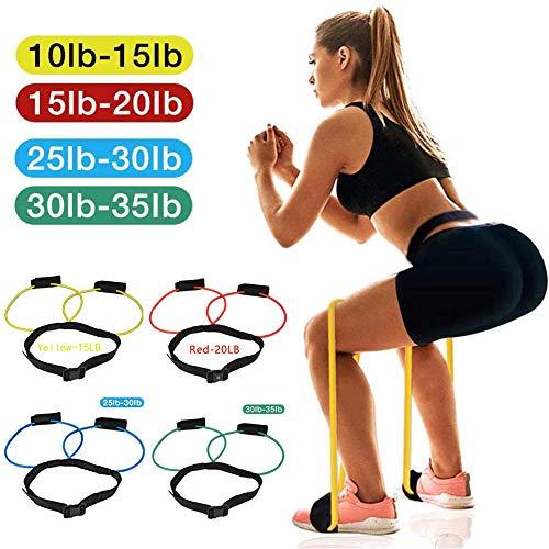 5 Pièces Femmes Booty Band Belt -Bandes de résistance Muscle Waist Belt-Ladies Elastic Muscle Trainer pour Les Femmes Gym Exercice Workout
