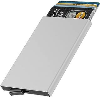 Dlife Credit Card Holder RFID Blocking Aluminum Business Card Holder Automatic Pop-up Card Case