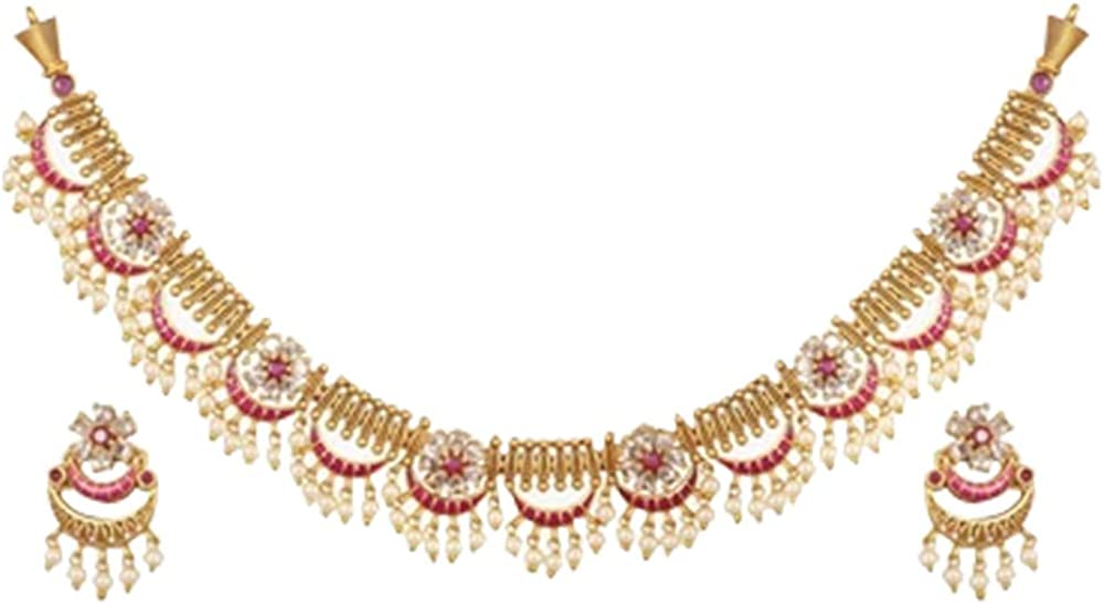 Tarinika Super intense SALE Videni Antique Gold-Plated Indian with Set Jewelry Neck Ranking TOP18