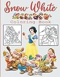 Snow White Libro de colorear: A Coloring Book for Kids - más de 50 adorables fotos de Snow White and the Seven Dwarfs - Regalo especial para tus hijas
