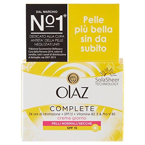 Olaz Complete 3 in 1 Tagescreme mit SPF15 für normale und trockene Haut, 50 ml
