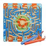 styleinside Lápiz Magnético Que Maneja una Cuenta de Madera Laberinto Puzzle - Laberinto de Anillo - Laberinto de Imán para Niños ( # 1?