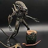 Qivor Muñecos y Figuras de acción DVD- Aliens Vs Predator - 7' Escala Mantis Extranjero (Amarillo} & heteromorphic Huevo Figura de acción de colección for los Aficionados Extranjeros
