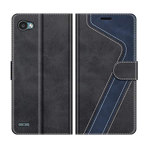 MOBESV Handyhülle für LG Q6 Hülle Leder, LG Q6 Klapphülle Handytasche Case für LG Q6 Handy Hüllen, Schwarz