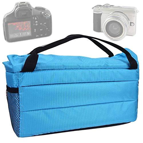 DAUERHAFT 4 Klettkamera-Einsatztasche für Fotokameras, für Teleobjektivkameras(Blue)