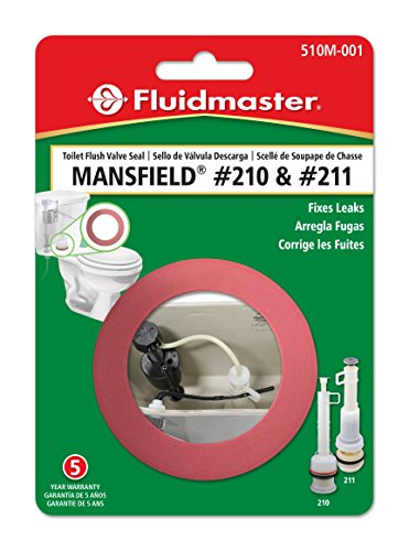 Fluidmaster 510M-001-P10 Mansfield Replacement Flush Valve Seal, Red