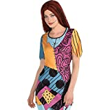 Party City Sally Tunic Halloween Costume for Women, The Nightmare Before Christmas, Small/Medium, Patchwork Design