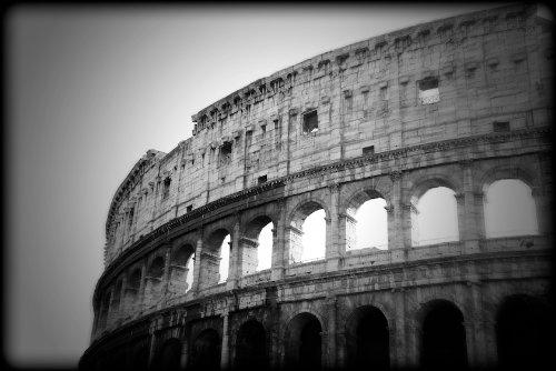 Roman Coliseum Black and White Print Rome Italy ITBW3951 4x6