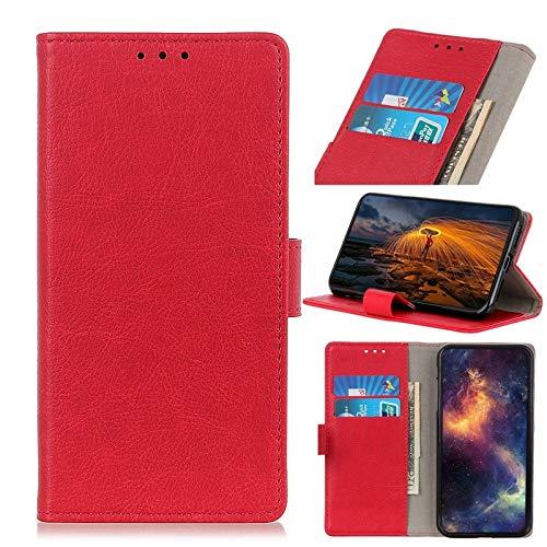 Fundas para teléfono móvil compatibles con Xiaomi Mi 9 Pro 5G, funda de piel sintética con hebilla magnética, funda con soporte tipo tirón (color: rojo)