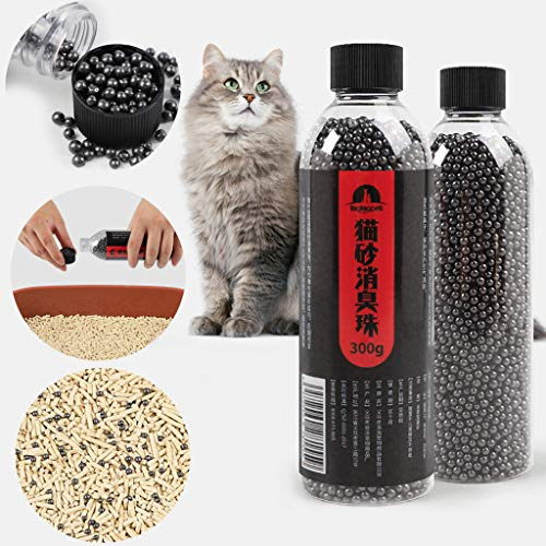 Kiar 🐱🐱🐱 Cat Litter Deodorant Beads Activated Carbon Absorbs Tight Odor Air Fresh Cat Stink Bead Pet Cat Litter Cleaning Products Cat Litter Deodorizer