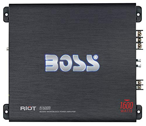 Boss Audio Systems R1600M - Amplificador de Audio (1.0 Canales, 1600 W, A/B, 0,01%, 102 dB, 1600 W)