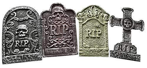 4 X Grabsteine Grab Grabsteine Sicke Halloween-Party Polystyrol 55cm Dekorationen Requisite