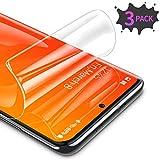 RIWNNI [3 Stück Schutzfolie für Samsung Galaxy S20, Ultra Dünn Weiche TPU Bildschirmschutzfolie (Nicht Panzerglas), HD Klar Bildschirmschutz Folie Full Screen für Samsung Galaxy S20 - Transparent
