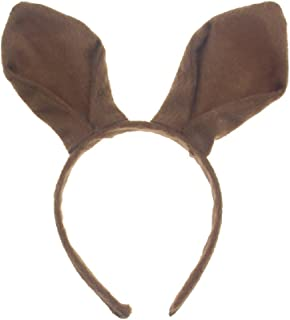 Bunny Ears Headband - Brown Bunny Ears - Rabbit Ears - Halloween Christmas Easter Party Costume