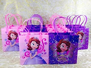 """12PC """"SOFIA THE FIRST PRINCESS"""" GOODIE BAGS PARTY FAVOR GIFT BAGS"""