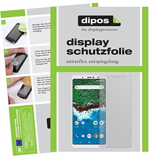 dipos I 2X Schutzfolie matt kompatibel mit BQ Aquaris X2 Pro Folie Bildschirmschutzfolie