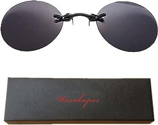 Retro Round Clip On Nose Matrix Movie rimless sunglasses men