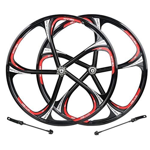 ZNND 26 Pollici Ruote per Bicicletta, Alluminio Ruota Posteriore Cerchio Doppia Parete Disco Nero con Cerchione 8/9/10/11 velocità