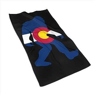 KLQ Colorado Bigfoot Sasquatch Microfiber Towel Quick Dry Washcloths Sports Towel 27.5x17.5in