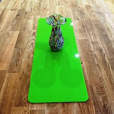 Super Cool Creations Acrylique Vert Citron Chemin de Table rectangulaire – L – 60 x 22 cm