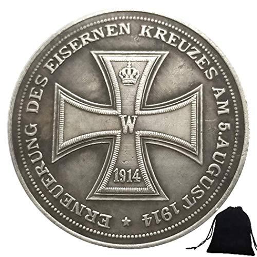 LKTingBax Handgeschnitzte historische deutsche Münzen von 1914 - Fehlende Geschichte Deutschlands - Unzirkulierte Gedenkmünze - Lehrwerkzeug für Kinder erleichtert das Leben