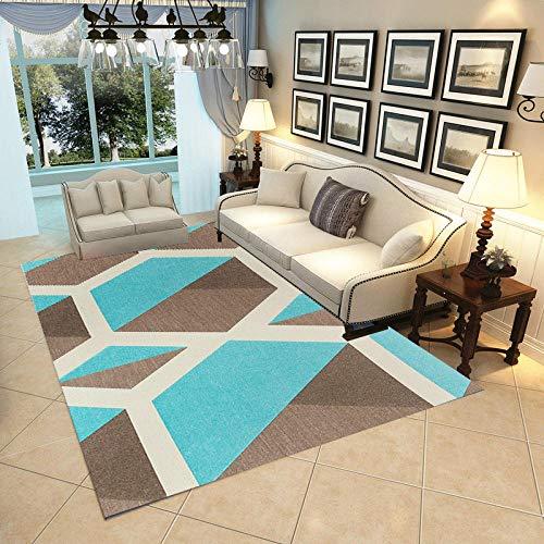HXJHWB Alfombra Lavables Moquetas - Alfombra Interior geométrica Irregular con impresión 3D, Sala de Estar Moderna, gradiente Multicolor, Antideslizante-Los 50CMx80CM