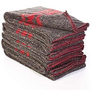 TeleCajas®   Mantas de Mudanza 200x140 cms   Muy Gruesas 350 Gramos   Fabricadas en España.   Mantas Yoga   Lote de 5 Mantas para Mudanza (5X)
