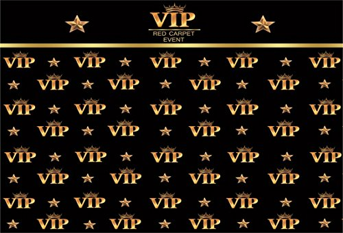 AOFOTO 8x6ft VIP Red Carpet Event Backdrop Star Catwalks Stage Photography Background Cine Film Show Booth Celebrity Activity Premiere Award Movie Ceremony Photo Studio Props Party Banner Wallpaper