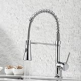 GIMILI Rubinetto da cucina estraibile miscelatore rubinetto da cucina con doccetta rubinetto a spirale per lavello cucina rubinetto