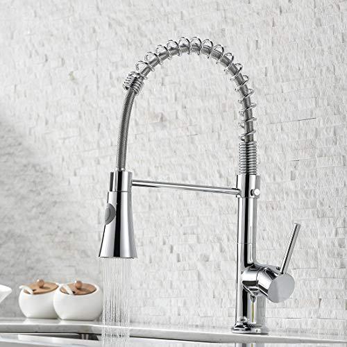 GIMILI waterkraan keuken uittrekbare mengkraan wastafelarmatuur keukenkraan met douchekop 360 draaibare wastafelkraan roestvrij staal