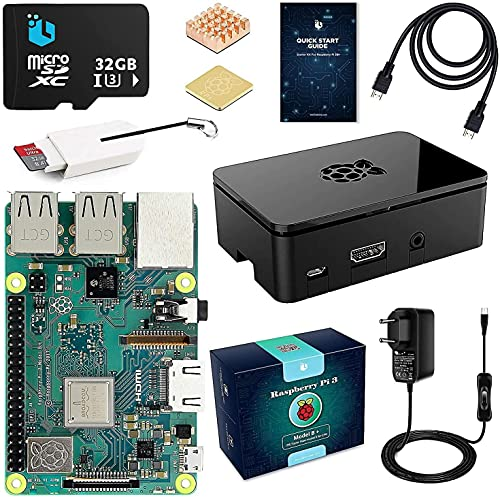 Raspberry pi 3b + Starter Kit con 32GB Micro SD Clase 10