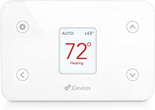 iDevices Thermostat - Wi-Fi enabled Smart Thermostat; Works With Alexa, Siri, the Google Assistant