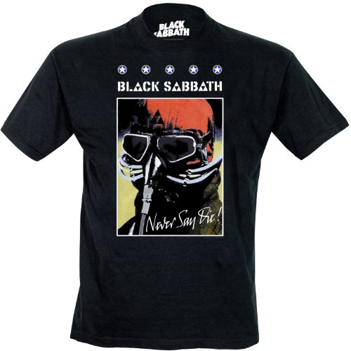 Black Sabbath Never Say Day Poster - Camiseta con manga corta para...