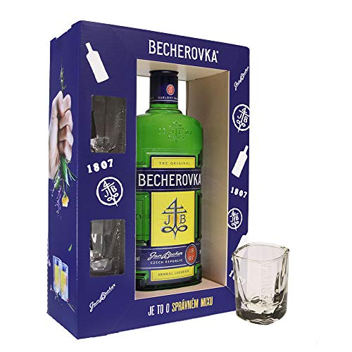 Becherovka Original Set mit 2 Gläser (1 x 0,7l)